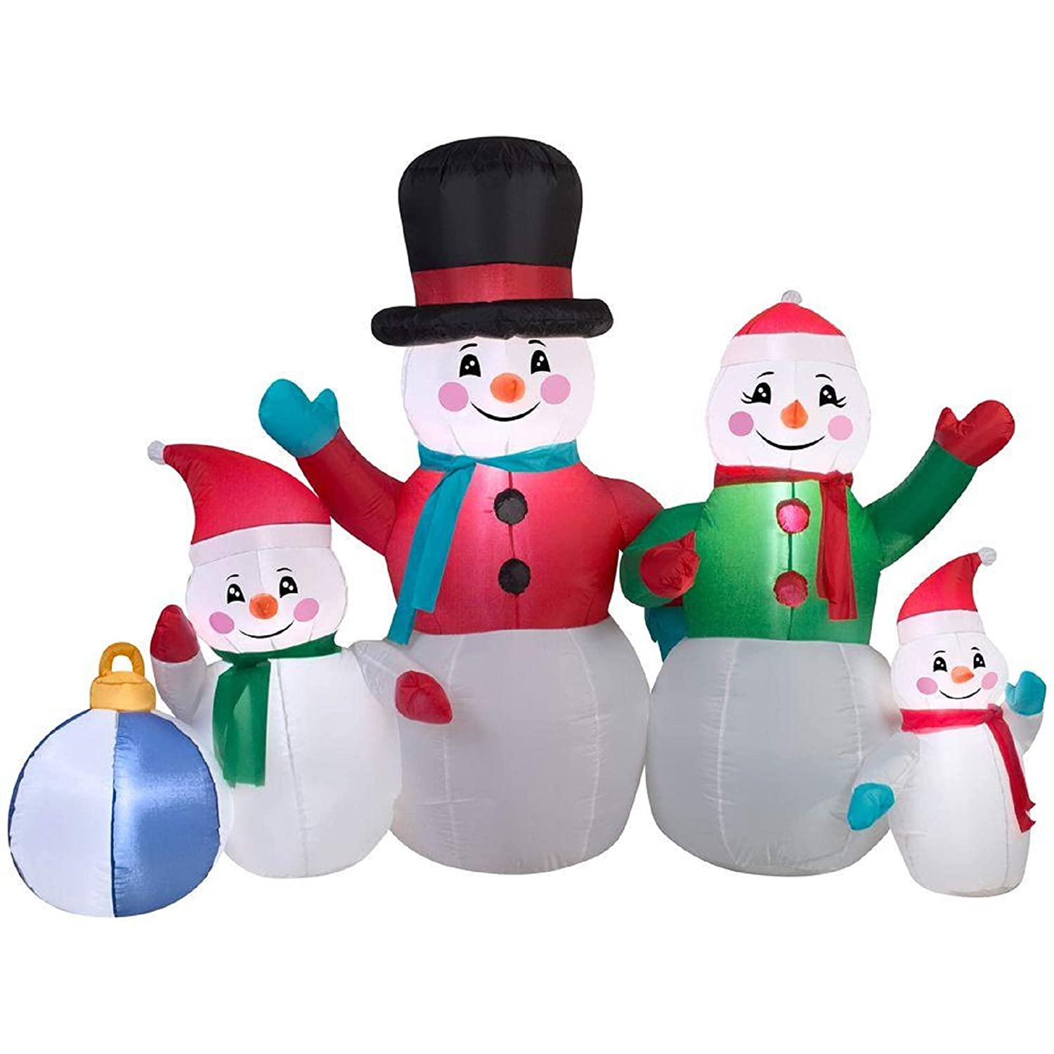 Christmas Inflatable.Christmas Inflatable 6 Snowman Family Airblown Decoration By Gemmy