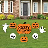 Trick or Treat - Yard Sign & Outdoor Lawn Decorations - Happy Halloween Party Yard Signs - Set of 8