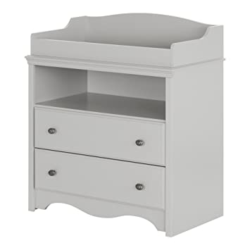 Superieur South Shore Angel Changing Table With Drawers, Soft Gray