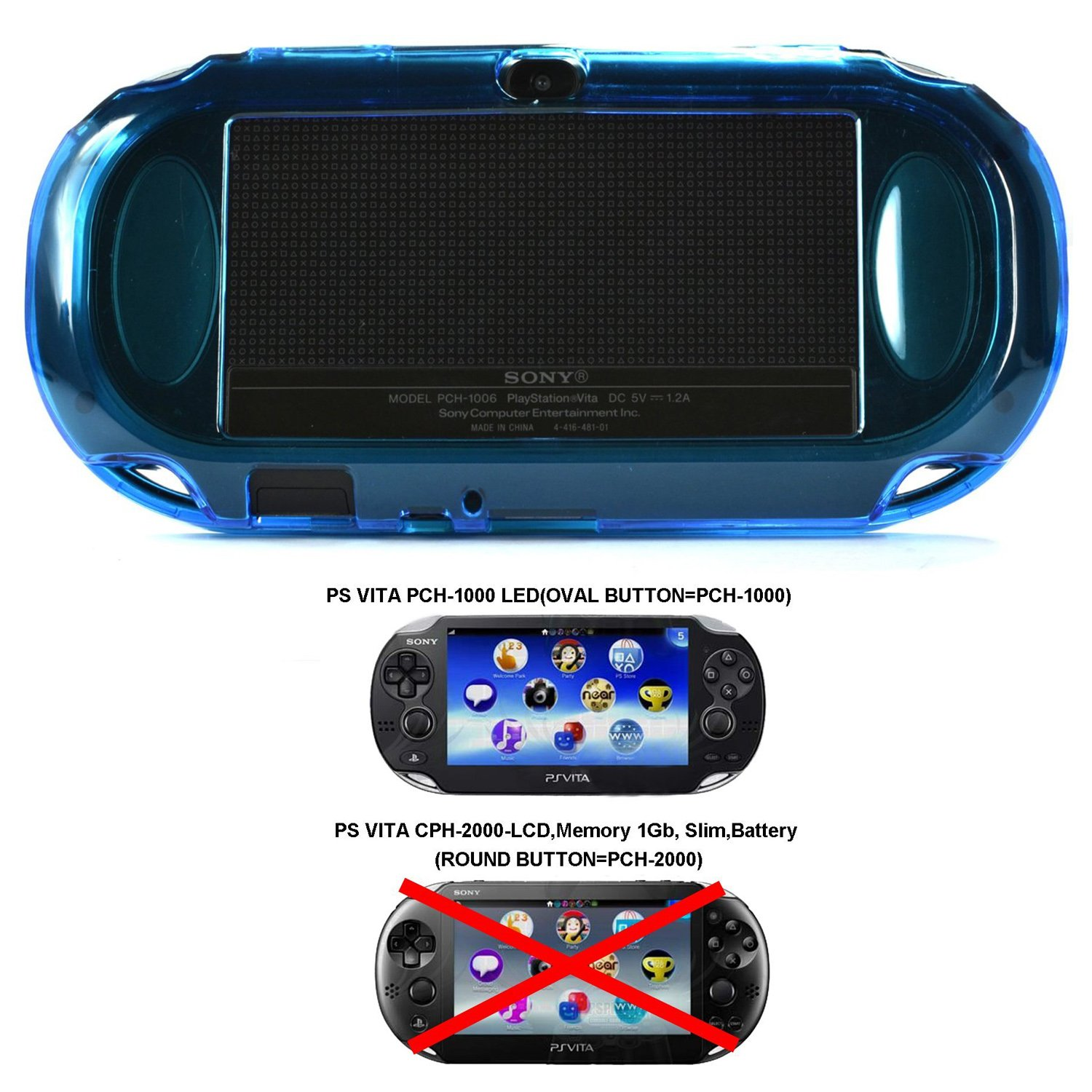 Cosmos Light Blue Protection Hard Case Cover For Playstation Ps Vita 1000 Fi.. 10