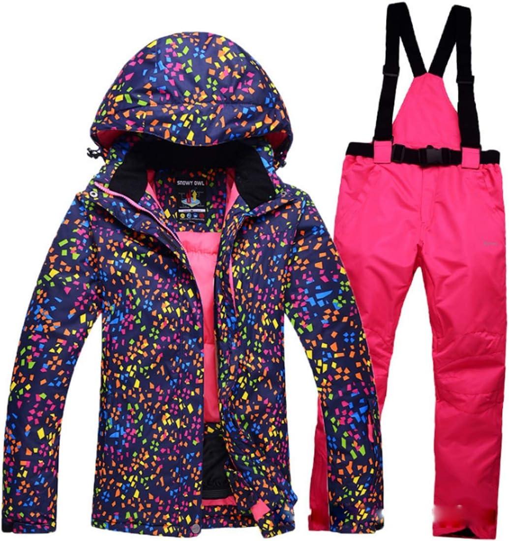 Wazenku 女性のスキージャケットハイ防風防水技術スノージャケット (色 : 04, サイズ : M)  Medium