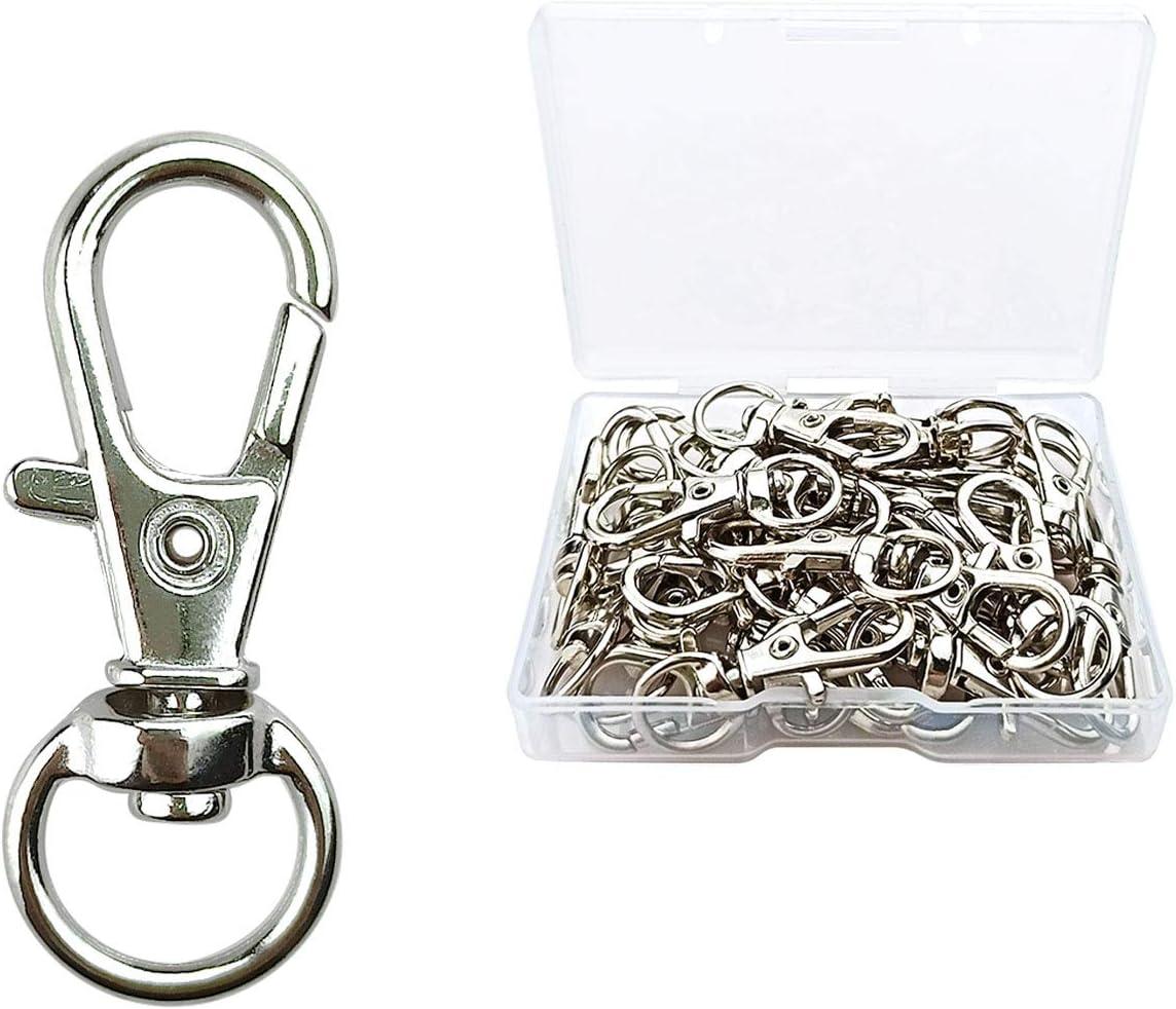 Silver Large Swivel Clasp 52*12mm Swivel Snap Hook Metal Lobster Clasp Lanyard Hook Bag Hardware Webbing Connector Handbag Accessories-6pcs