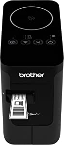 Brother P-touch, PTP750W, Wireless Label Maker, NFC Connectivity, USB Interface, Mobile Device Printing, Black