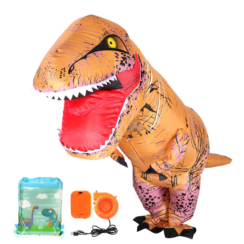 ANNTOY T Rex Costume Kids Inflatable Dinosaur Costume with Exclusive Drawstring Bag for Halloween