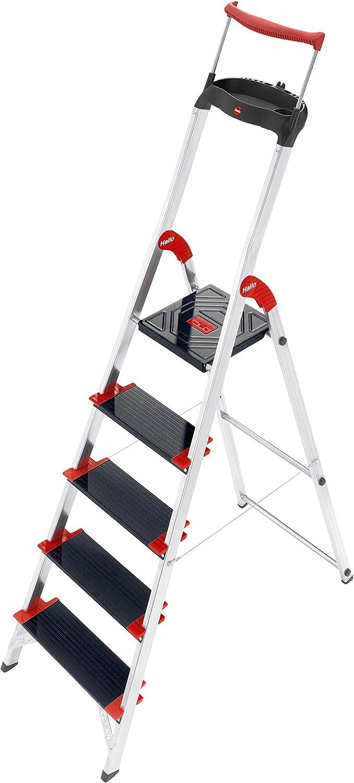 Hailo championsline xxr - Escalera domestica xxr.5 peldaños 280cm aluminio: Amazon.es: Bricolaje y herramientas