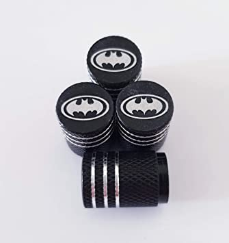 Speed Demons BATMAN Grey Laser Engraved Valve Dust Caps for all models Cars and Bikes