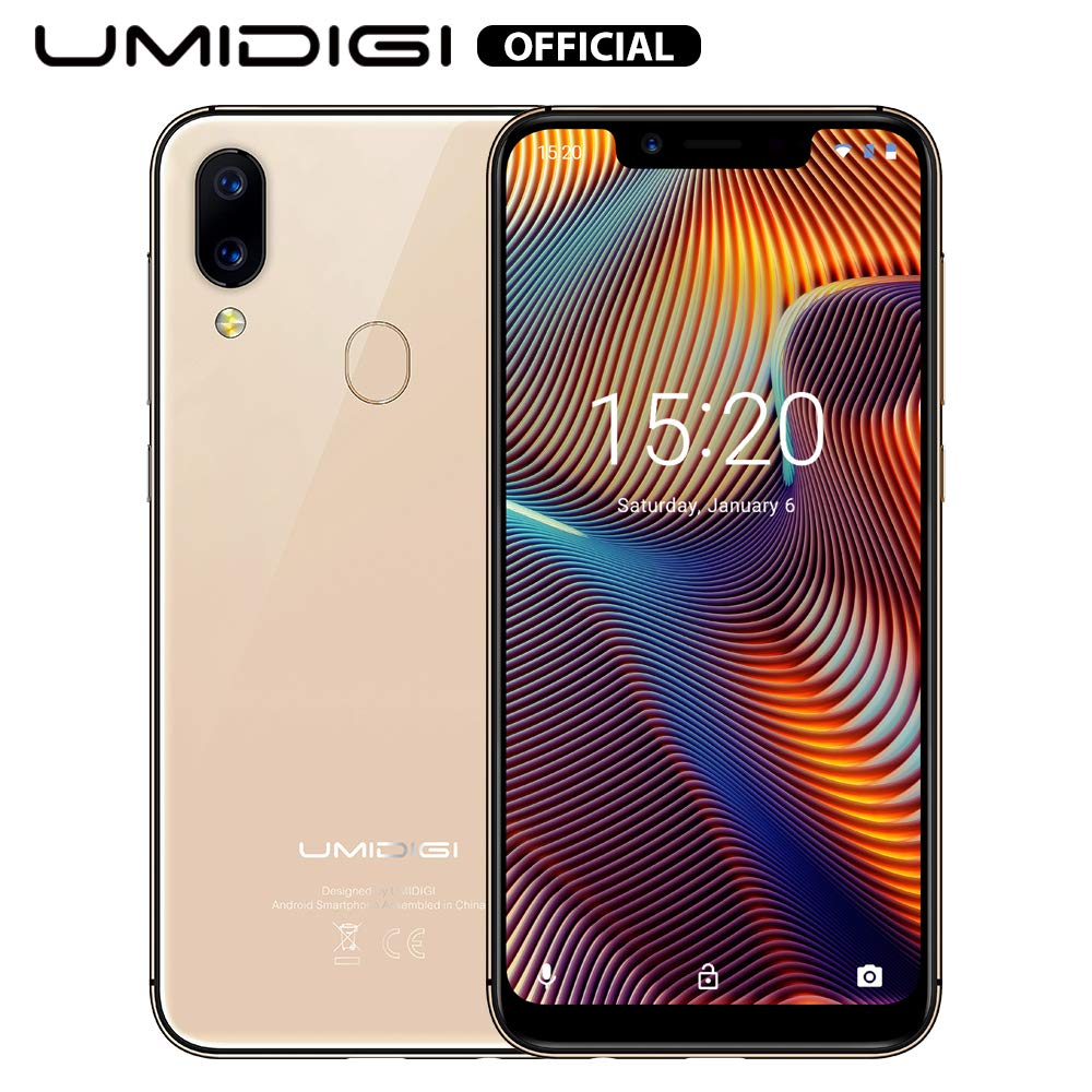 UMIDIGI A3 Pro GSM Unlocked Cell Phones 3GB+32GB(Expandable Storage to 256G) 5.7'' inch 19:9 Full-Screen Display 12MP + 5MP Dual Camera Global Band Dual 4G LTE 2 + 1 Card Slots Android 9.0(Rose Gold) by UMIDIGI