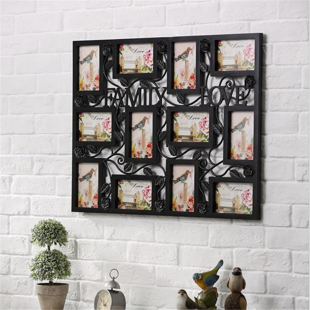 OOFYHOME Große Puzzle-Art-9 4x6 Wandbehang Collage bild Bilderrahmen ...