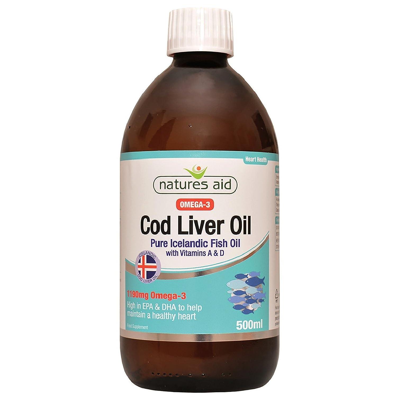 Natures aide 500ml de foie de morue huile liquide 671644