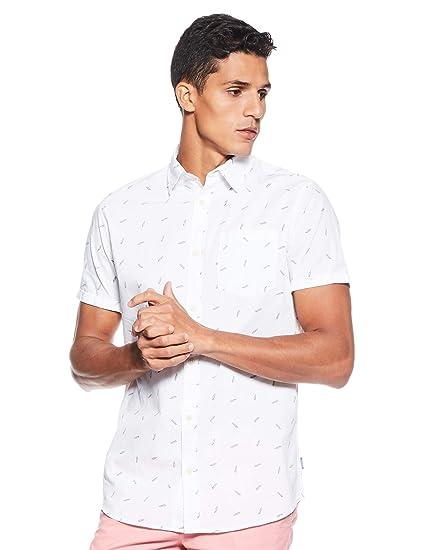 JACK & JONES Jorluis Shirt SS Org Camisa para Hombre: Amazon.es ...