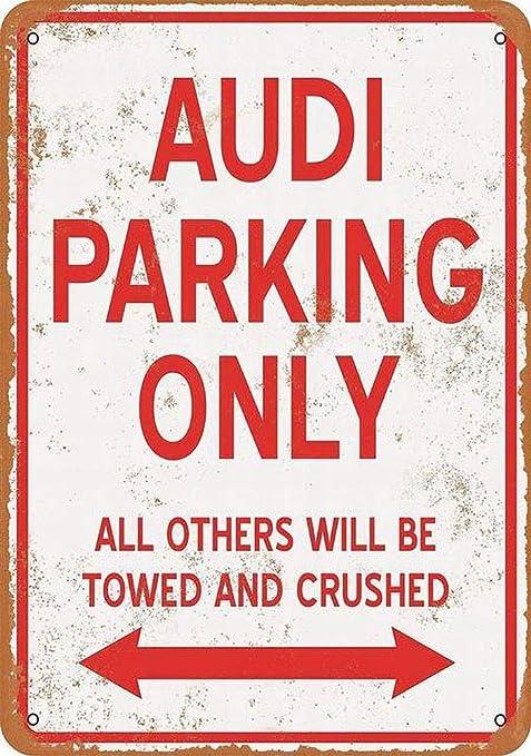 SALWON Audi Parking Only -Cartel De Chapa Advertencia Placa ...