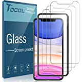 3 Pack TOCOL Compatible with iPhone 11 6.1 inch and iPhone XR Tempered Glass Screen Protector - Alignment Frame Easy Installa