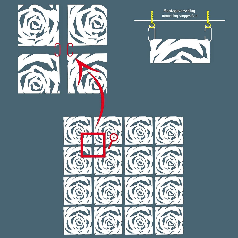 plastica plastica koziol Romance divisorio//Ornamento White 0.4x26.9x27 cm