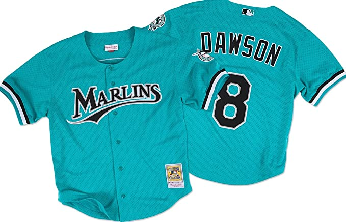 4a1d4f1f56c Amazon.com  Mitchell And Ness Andre Dawson Marlins Baseball Jersey  Sports    Outdoors