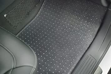 PUREMATS Floor Mats Full Set + Storage Compatible with Toyota Sienna (8  Seater) - All Weather - Heavy Duty - (Made in USA) - Crystal Clear - 2011,