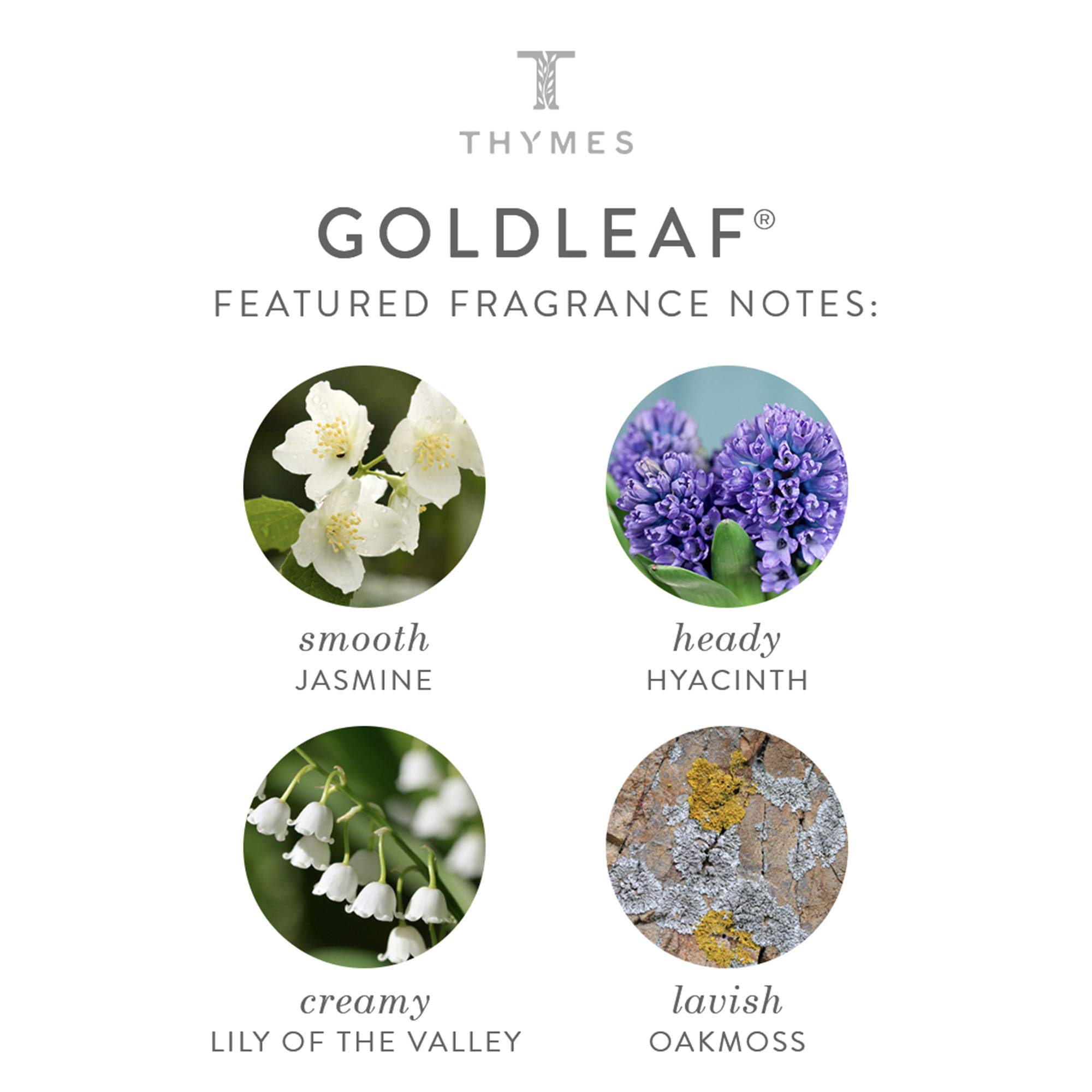 Thymes - Goldleaf Home Fragrance Mist (2-Pack) with Free Vetiver Rosewood Sample Pack- Elegant Floral Scented Room Spray - 3 oz by Thymes (Image #3)