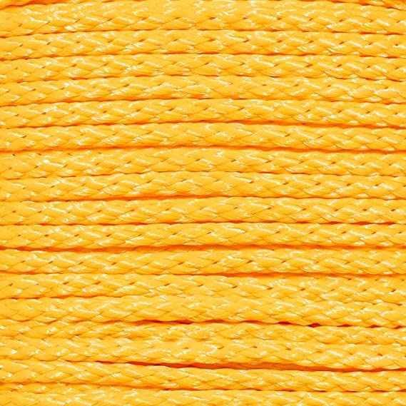 Variety of Diameters and Lengths to Choose from GOLBERG G Multiple Use Hollow Braid Polypropylene Rope in Yellow