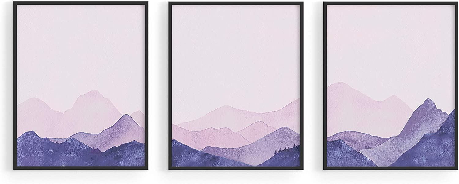 HAUS AND HUES Forest Wall Art Mountain Wall Decor Forest Art Wall Decor | Mountain Wall Art for Living Room Forest Wall Decor | Nature Wall Art, 8