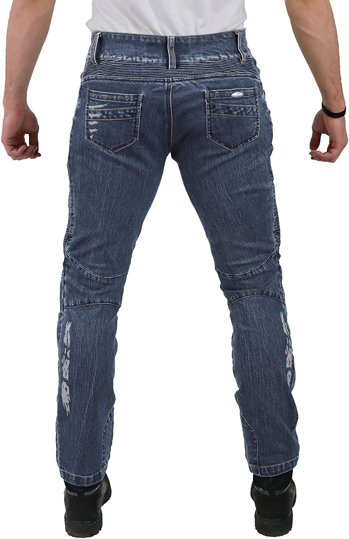 Motorradhose Jeans Ranger Leicht Dünn Herren Sommer Textil Jeanshose Slim Fit Motorrad Textilhose Männer Eng Stretch Schwarz M Auto