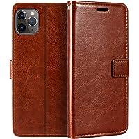 Capa carteira para iPhone 11 Pro Max, capa flip magnética de couro sintético premium com suporte para cartão e suporte…