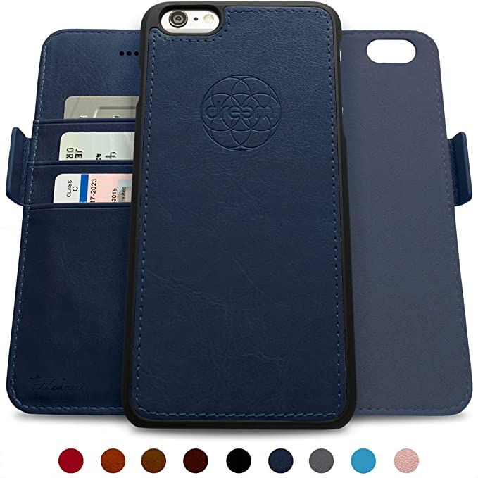 super popular 79398 185a5 Dreem Fibonacci 2-in-1 Wallet-Case for iPhone 6-Plus & 6s-Plus, Magnetic  Detachable Unbreakable TPU Slim-Case, RFID Protection, 2-Way Stand, Luxury  ...