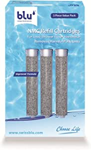 NMC Refill Cartridge for the blu Ionic Shower Filter – Handheld – 3 Piece Value Pack