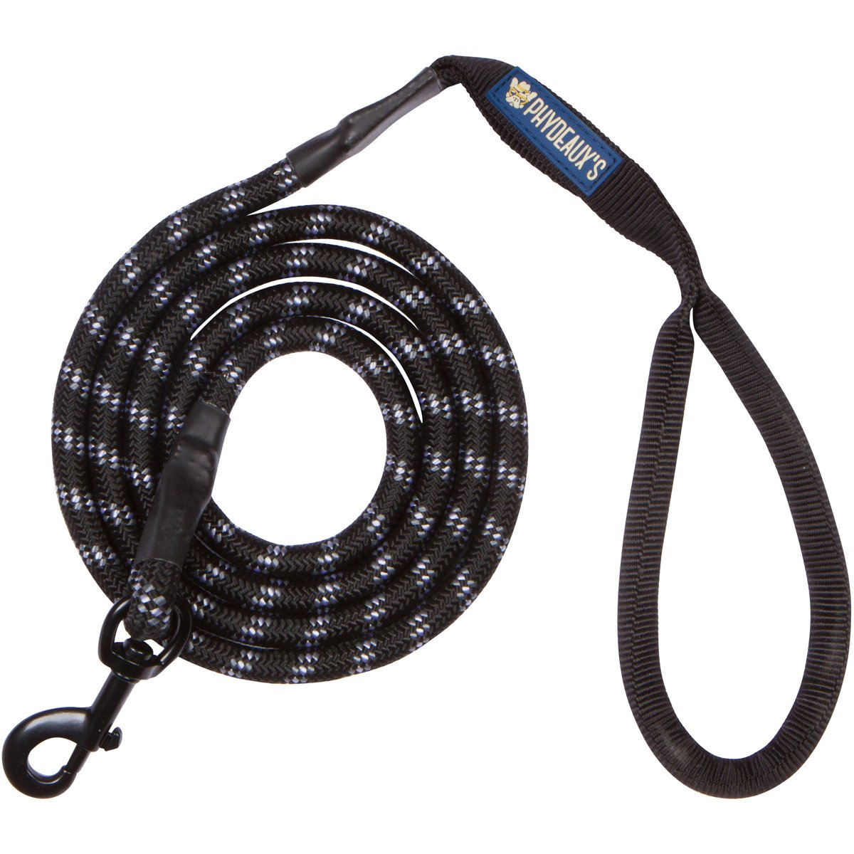 Phydeaux's Mountain Climbing Rope Dog Leash - 6 ft Long - Premium Quality - Perfect for Medium and Large Dogs (Black) by Phydeaux's Pet Supply