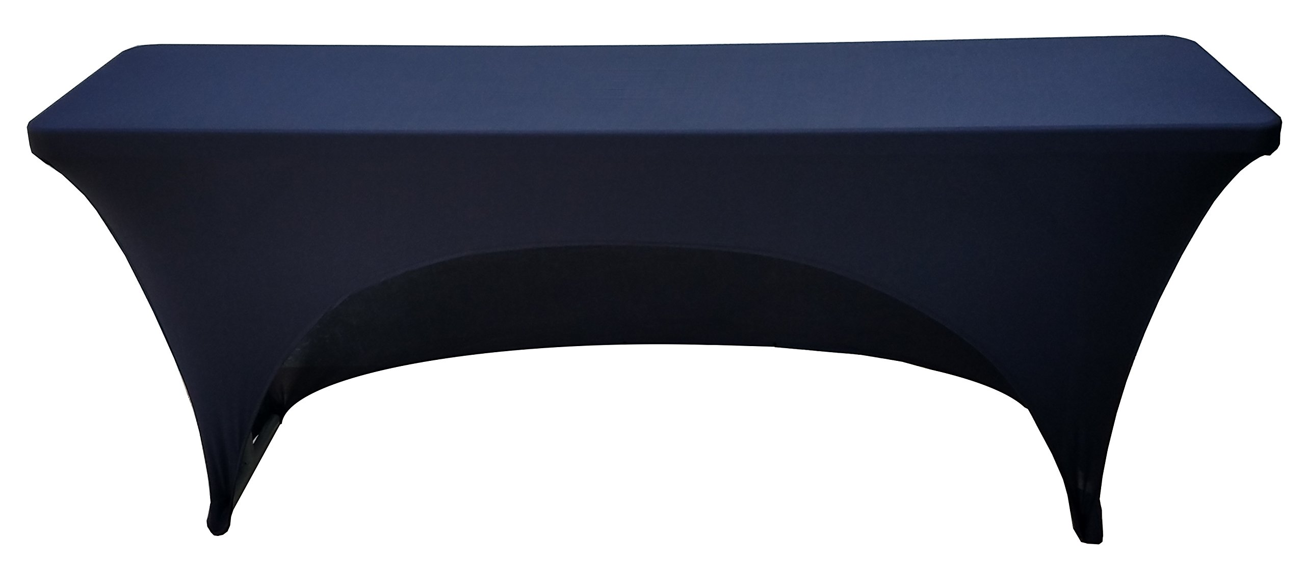 6 Foot Spandex Cover for 18 x 72 Rectangular Training Tables(Black) by Banquet Tables Pro