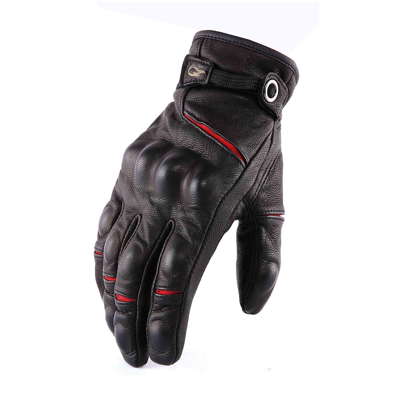 HU Herbst und Winter Leder Handschuhe Touchscreen Drop-Proof Warm Winddicht Motorrad Riding Retro Handschuhe