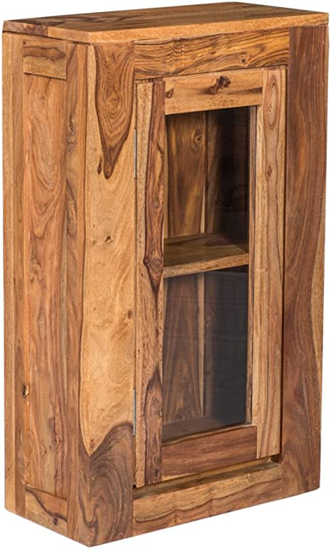 Woodkings Hangeschrank Leeston Echtholz Palisander Lackiert Badmobel Badezimmer Wandschrank Badezimmerschrank Badschrank Massivholz Amazon De Kuche Haushalt