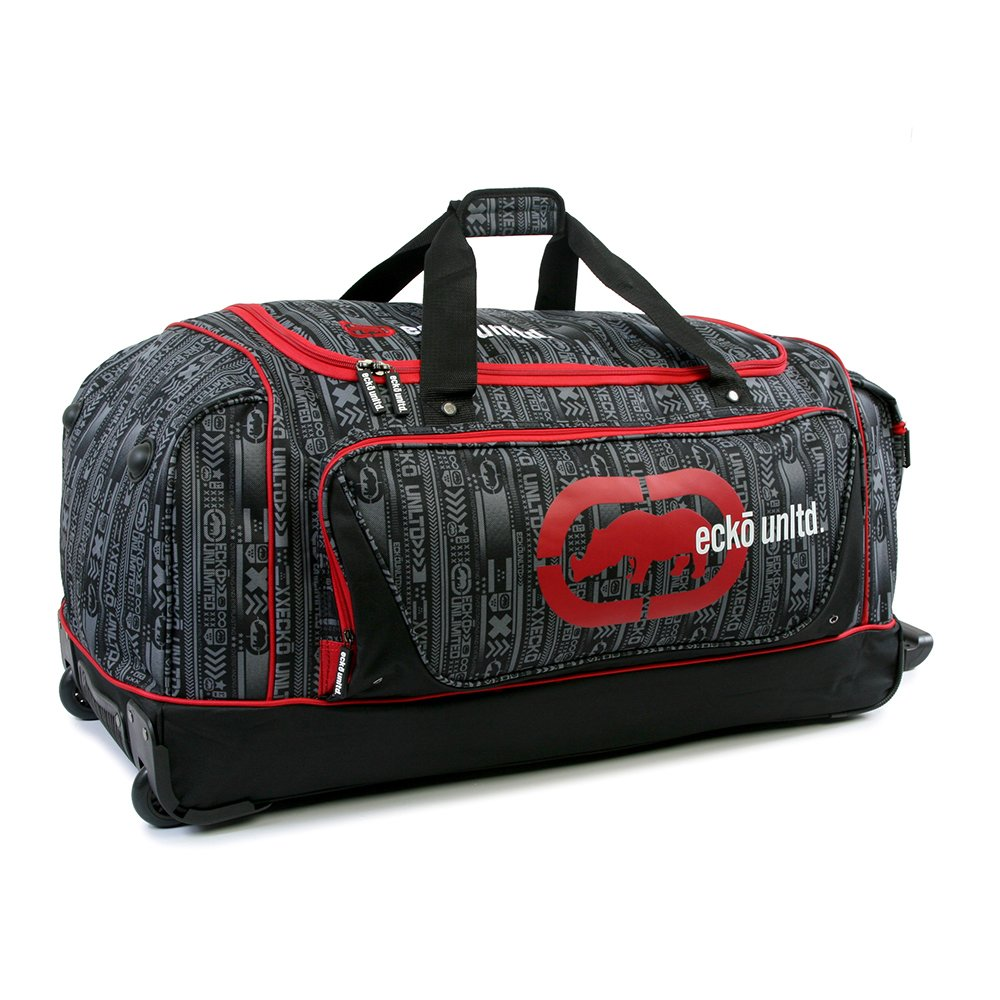 Ecko Unltd 32 Steam Collection Rolling Duffel Red