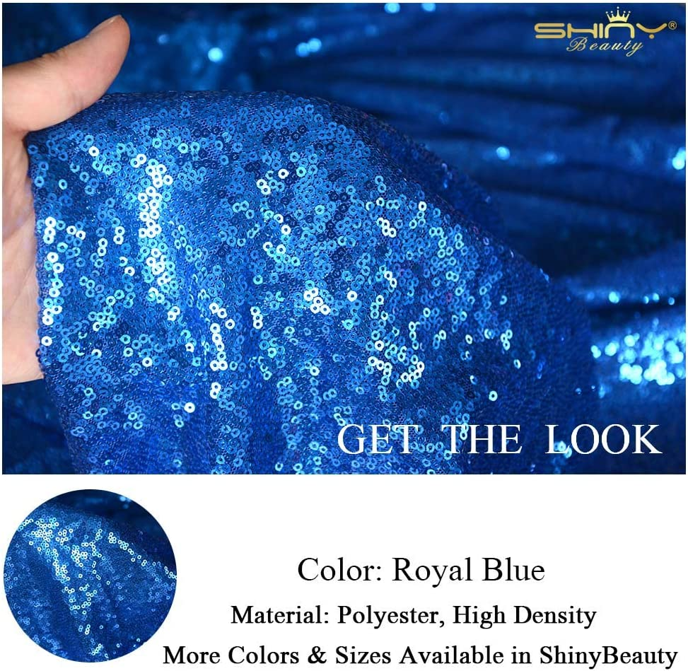 ROYAL BLUE All Over Sequin Fabric for Dressmaking Draping /& Set Design Material