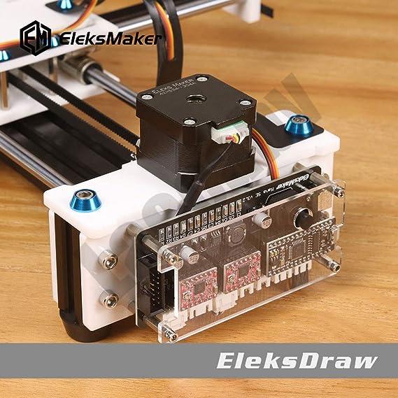 2 ejes DIY CNC XY Plotter Stift Desktop dibujo Robotik Hochpräzise Auto pintura Schreibroboter Kit CNC-Fräsmaschine Router: Amazon.es: Bricolaje y herramientas