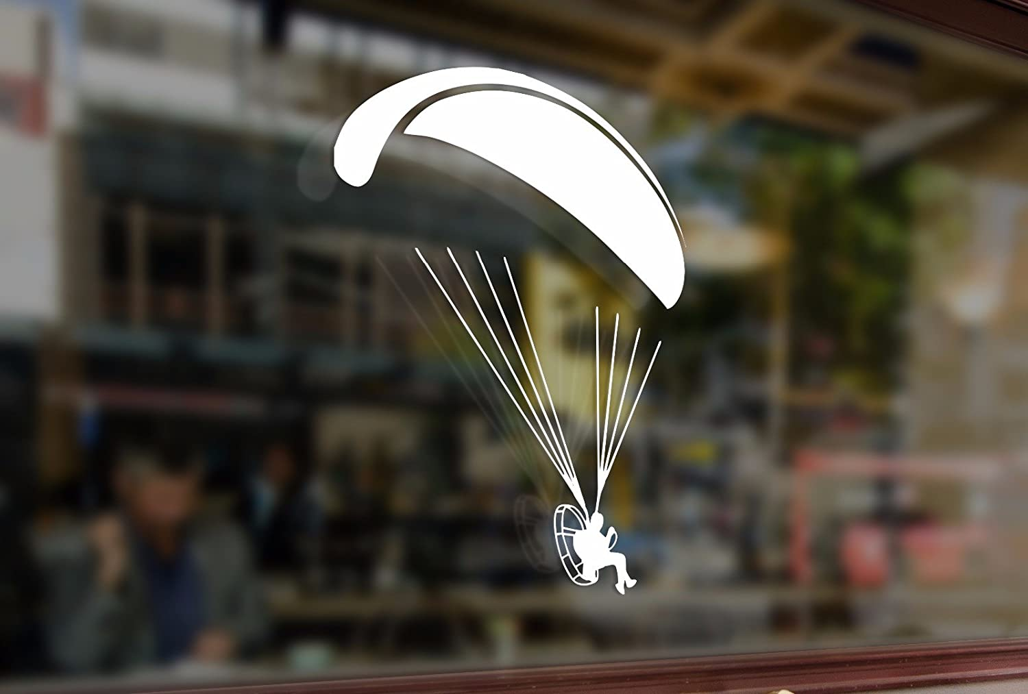 25cm Paramotor flyer Paramotorist Motorparaplan Vinyl Sticker Funny Decals Bumper Car Auto Laptop Wall Window Glass Snowboard Helmet Macbook