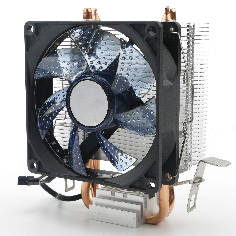 JIUWU CPU Air Cooler 3-Pin Fan with 2 Heatpipes Radia (6CQS)