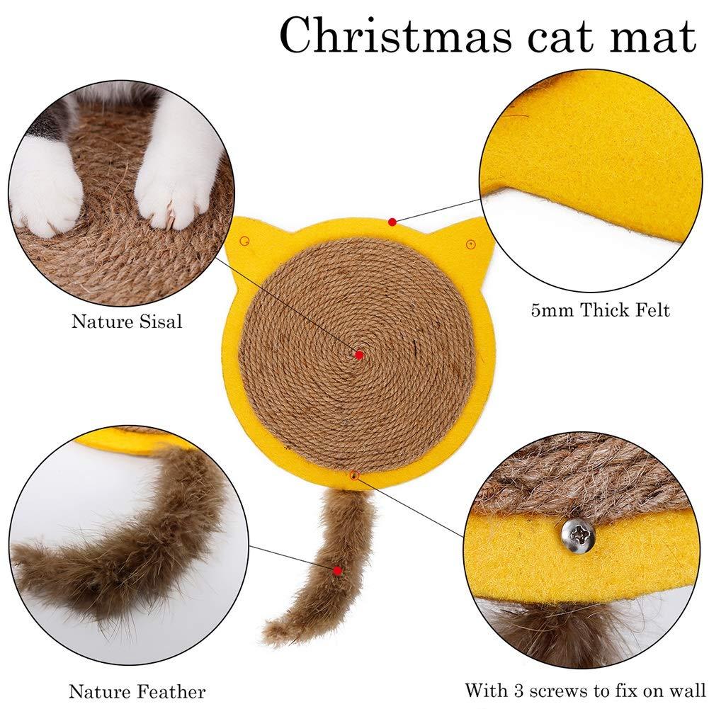 Amazon.com: ROZKITCH Alfombrilla rascadora para gato natural ...