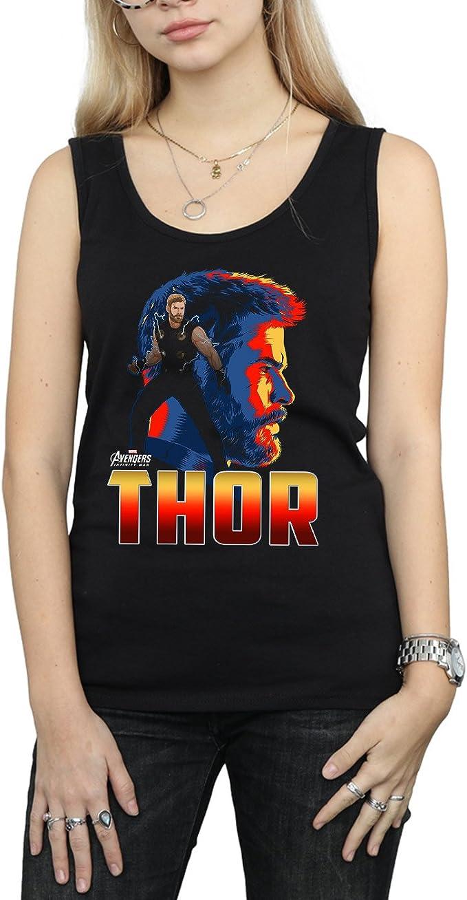 Avengers Mujer Infinity War Thor Character Camiseta Sin ...
