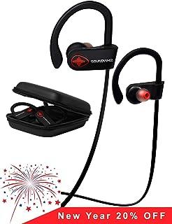 Inalámbrica Bluetooth Auriculares de Diadema – soundwhiz Impermeable Running Auriculares y micrófono w, Siri. Mejor…