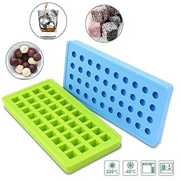 ATKKE 40 Cavities - Molde de silicona para hacer vela, chocolate, gelatina, cubitos de hielo, jabón y más (juego de 2) HG25: Amazon.es: Hogar