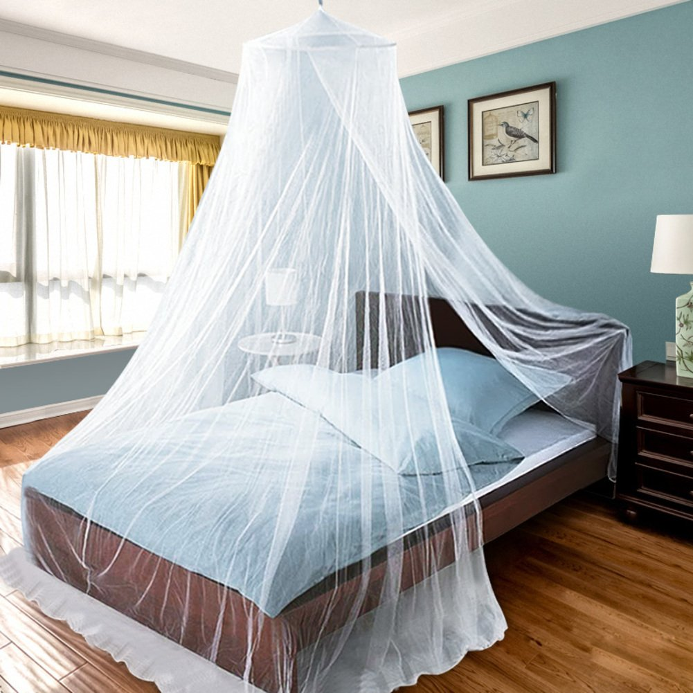 De & QWドームベビーMosquito Net、ベビーベッド暗号化ユニバーサルMosquito Netカバーベッドキャノピーcurtains-white queen1   B07CJ98WCP