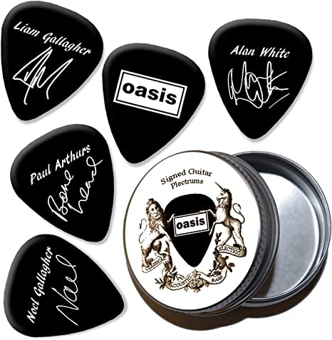 Oasis Black Púas de guitarra con estaño Tin (HB): Amazon.es ...