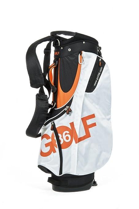 Desconocido Golf36 Golfbag Standsack - Bolsa de carro para palos de golf, color naranja