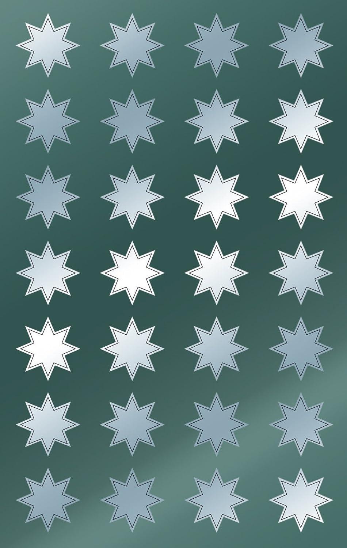 Avery Zweckform - Adhesivos decorativos, 112 unidades, diseño de estrella navideña, color dorado 52802