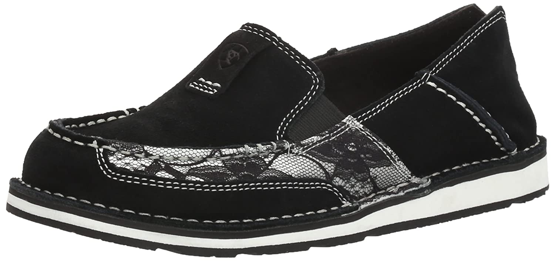 Ariat Women's Cruiser Slip-on Shoe B01N4TIG84 9.5 B(M) US|Black Suede