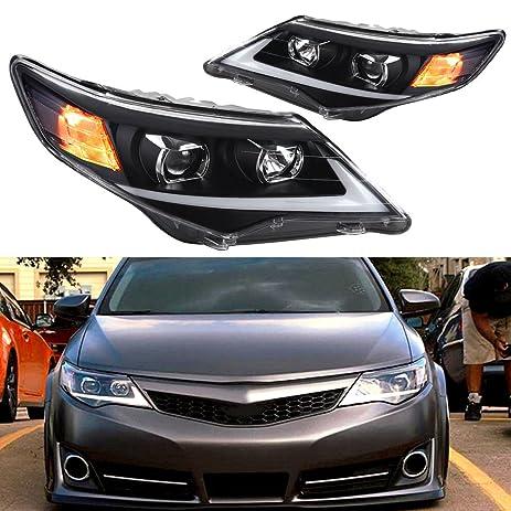 Amazon Com Eccpp Black Headlights Front Head Lights Drl Led
