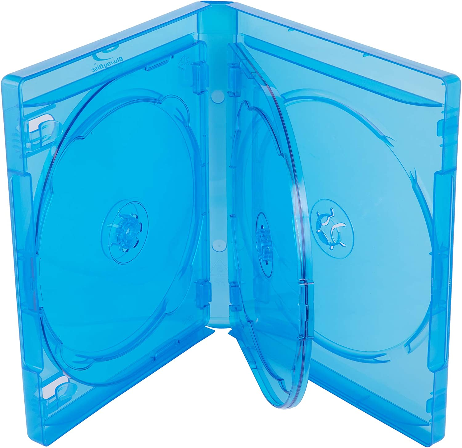 AcePlus 10 pieces Blue Replacement for Blu-ray Movie holds 5 Discs 22mm thickness