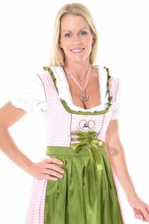 Dirndl Rehlein , 3tlg. Pink - Grün