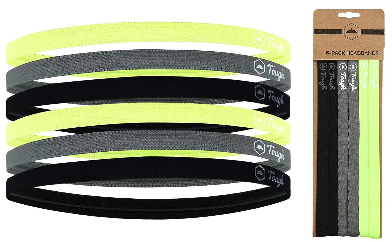 Amazon.com   Mini Sports Headbands - 6 Pack Thin Head Bands for Men ... a81893945b0c