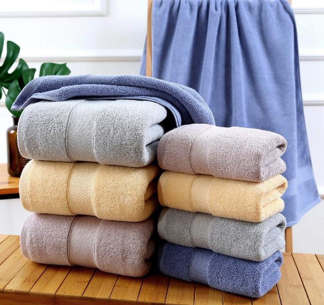 XiaoShop Maximum Luxurious Pool Gym Lightweight Highly Absorbent Dressy Ideal for Everyday use Quick Drying Extra Large Flattering Fast Drying Soft Bath Towel Set Blue 70140 by XiaoShop (Image #2)