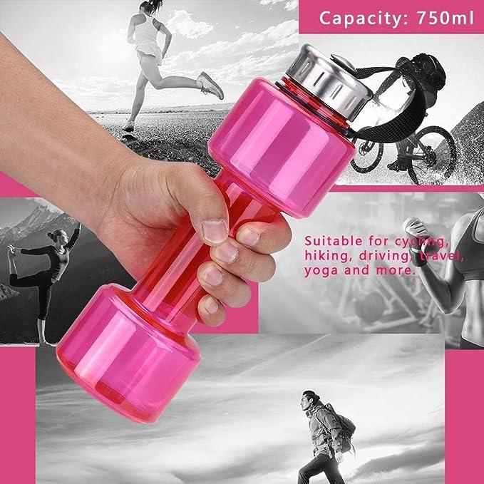 Fdit Sports - Botella de agua para gimnasio con forma de mancuerna, de gran capacidad, de plástico, para fitness, gimnasio, ejercicio, camping, ...